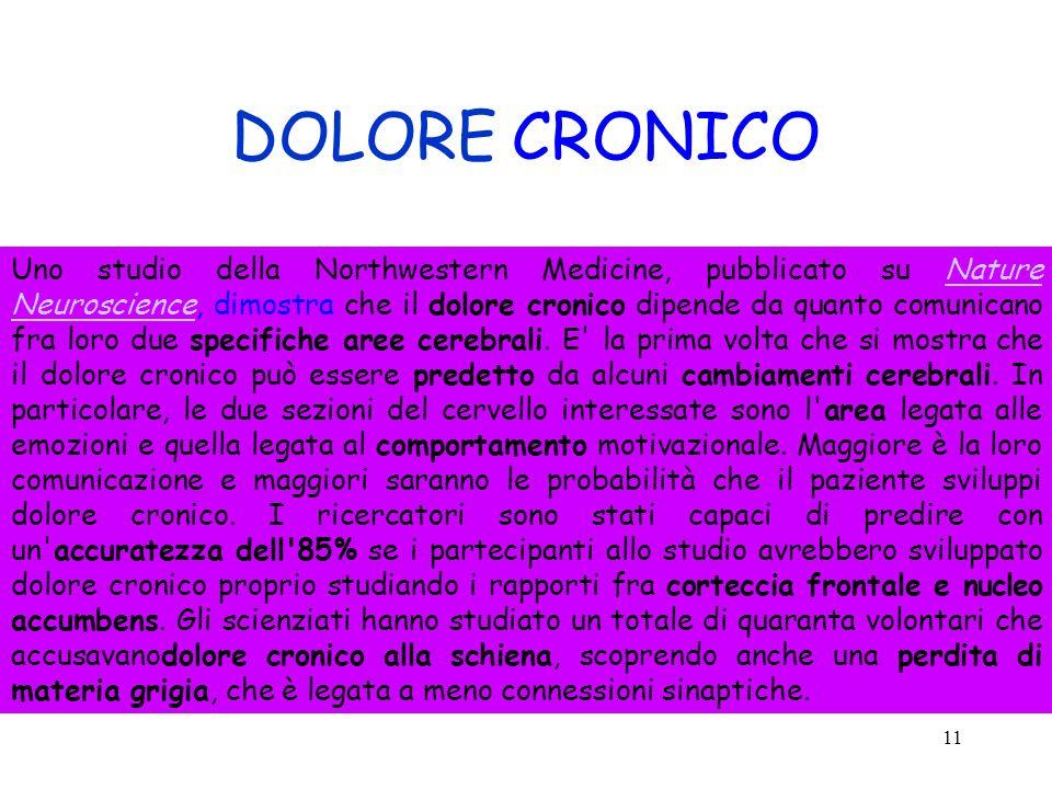 DOLORE CRONICO