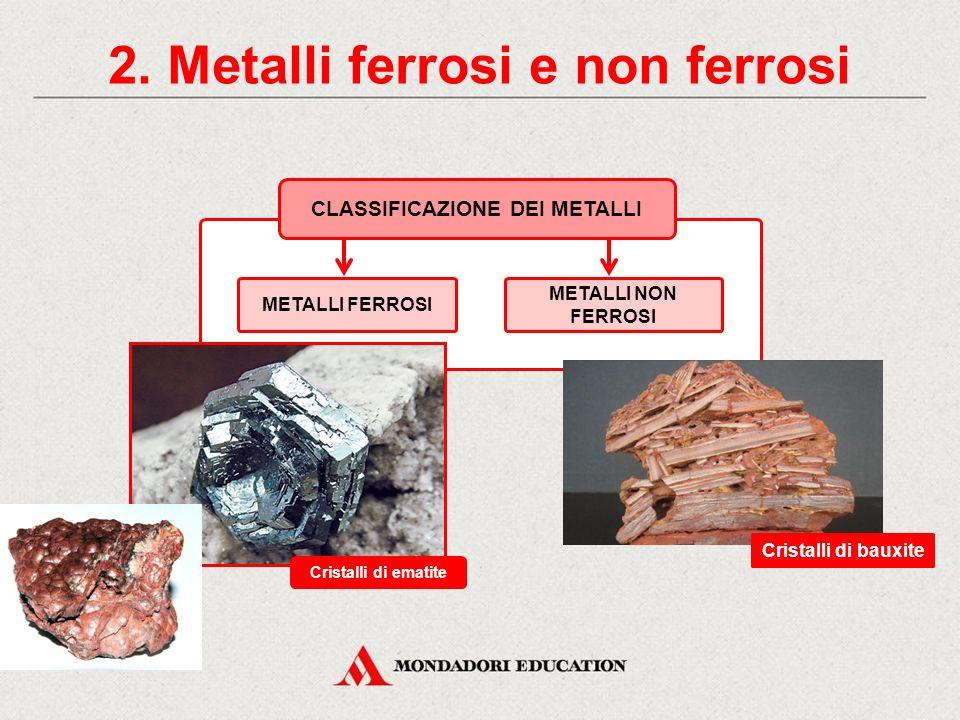 2. Metalli ferrosi e non ferrosi CLASSIFICAZIONE DEI METALLI