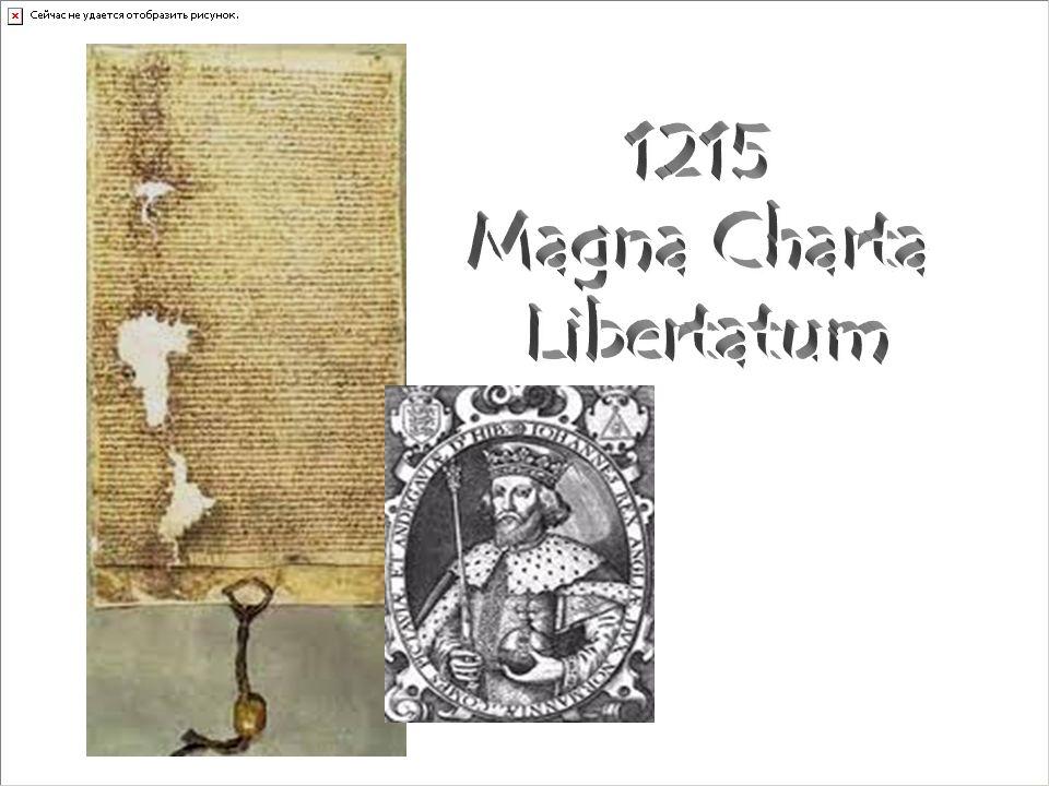 1215 Magna Charta Libertatum