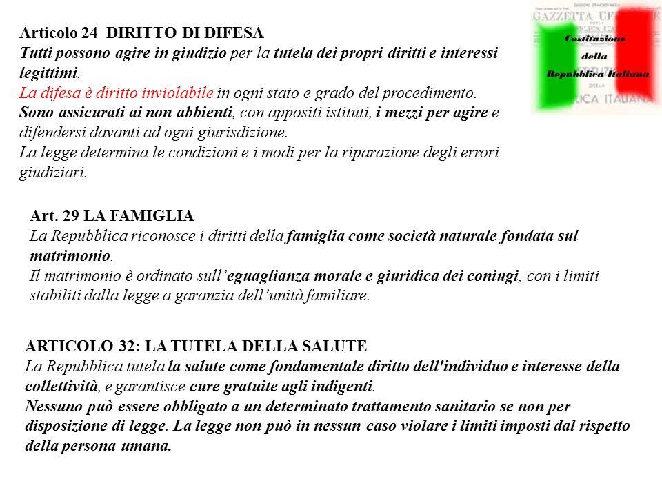 Articolo 24 DIRITTO DI DIFESA