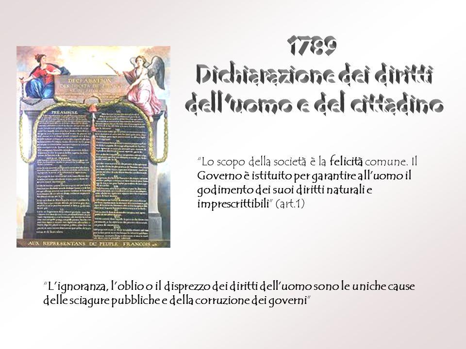 Dichiarazione dei diritti dell uomo e del cittadino