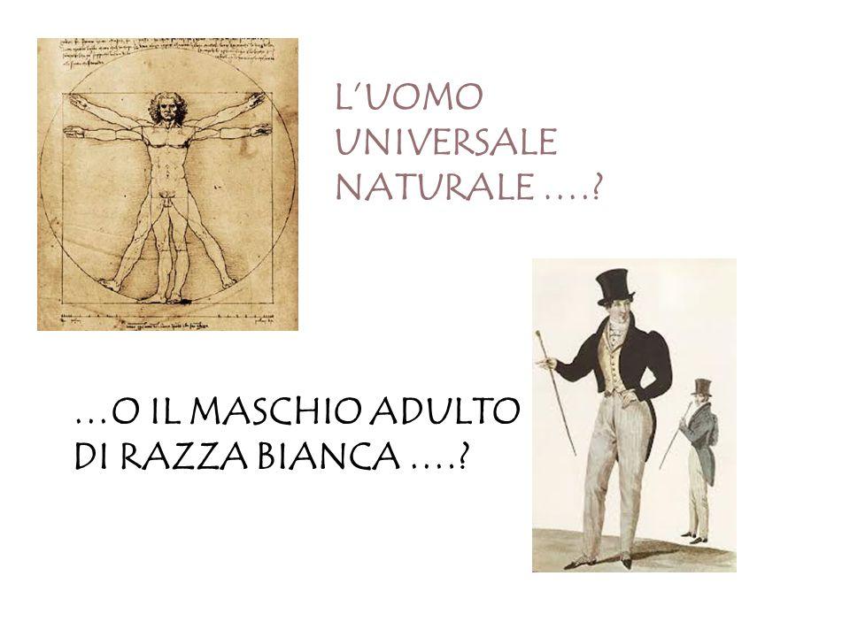 L'UOMO UNIVERSALE NATURALE ….