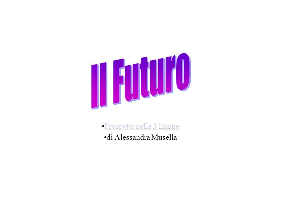 Prospetto nelle 3 lingue di Alessandra Musella