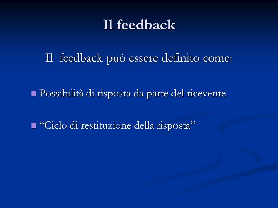 Il feedback può essere definito come: