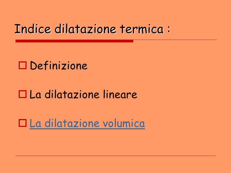 Indice dilatazione termica :