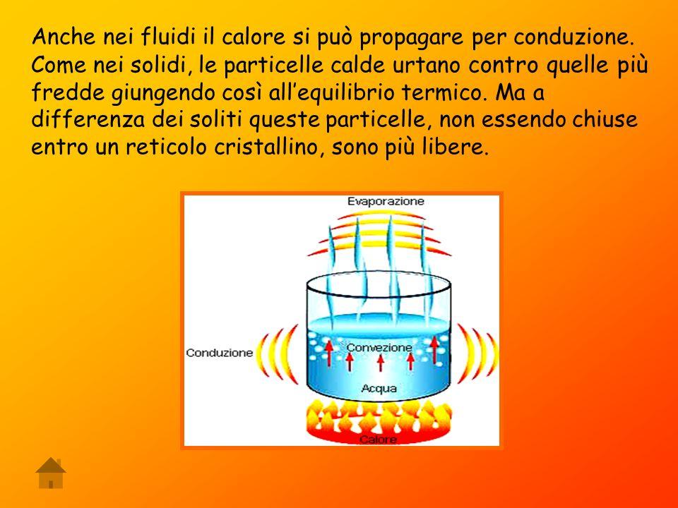 Anche nei fluidi il calore si può propagare per conduzione