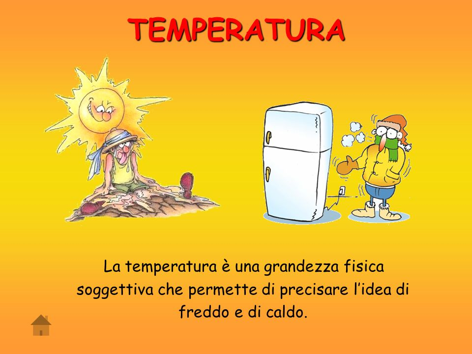 TEMPERATURA La temperatura è una grandezza fisica
