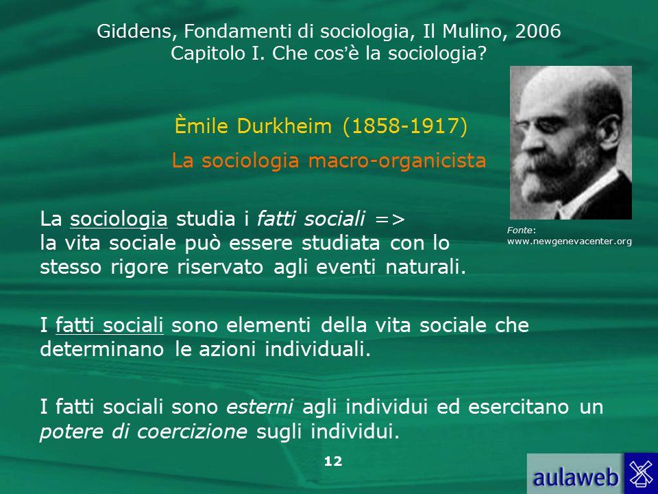 La sociologia macro-organicista