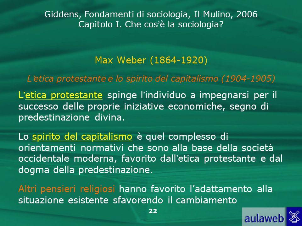 L'etica protestante e lo spirito del capitalismo (1904-1905)