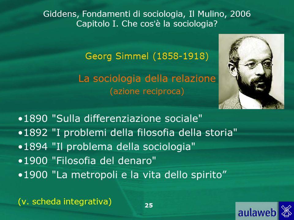 La sociologia della relazione