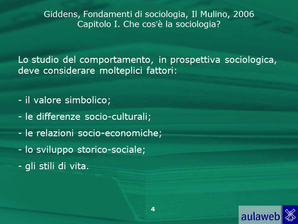 Lo studio del comportamento, in prospettiva sociologica, deve considerare molteplici fattori: