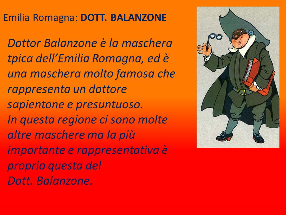 Emilia Romagna: DOTT. BALANZONE
