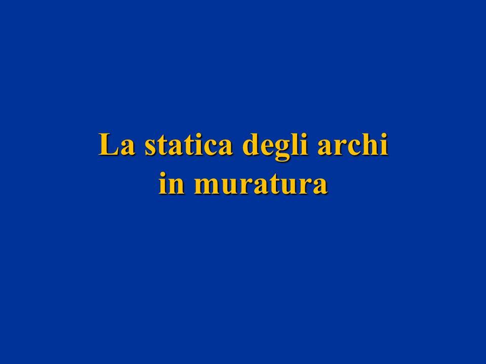 Arco In Muratura Calcolo.La Statica Degli Archi In Muratura