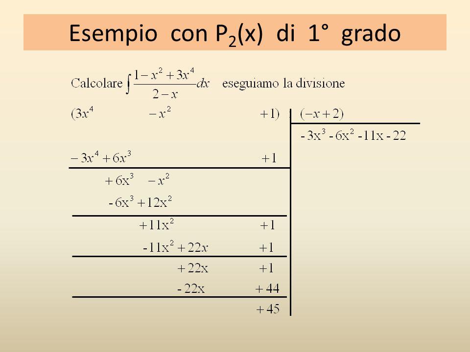 Esempio con P2(x) di 1° grado