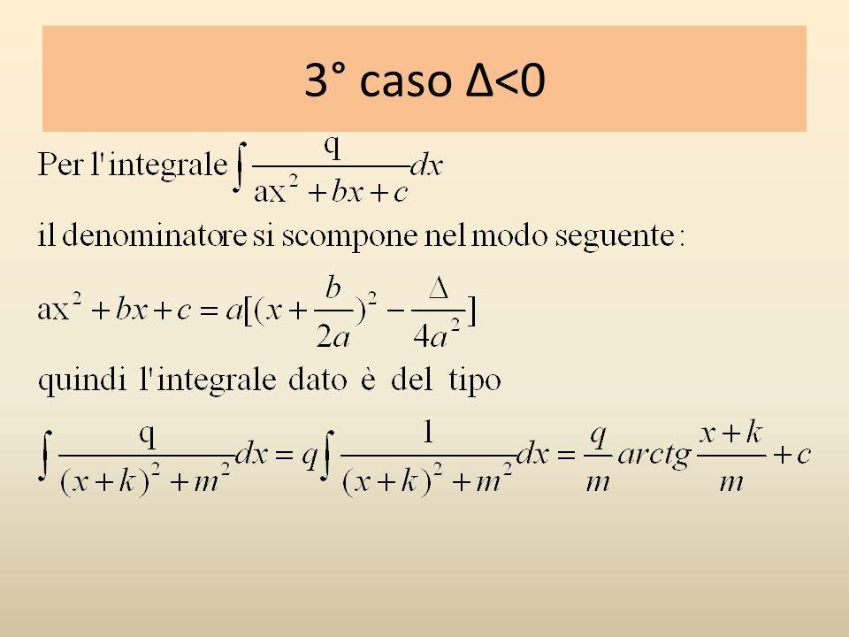 3° caso Δ<0