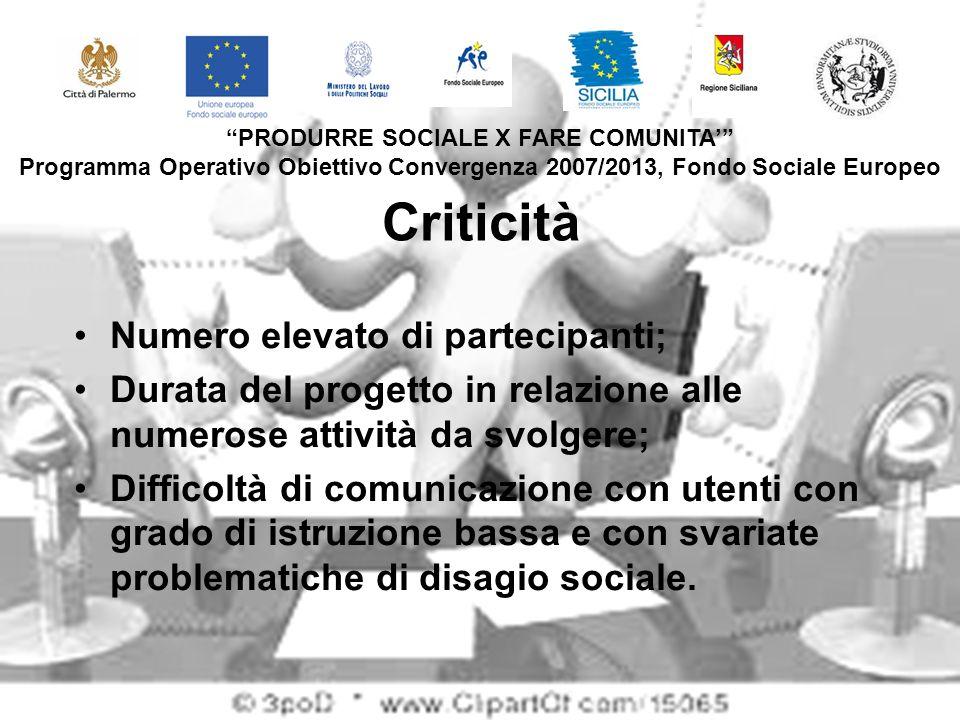 PRODURRE SOCIALE X FARE COMUNITA'