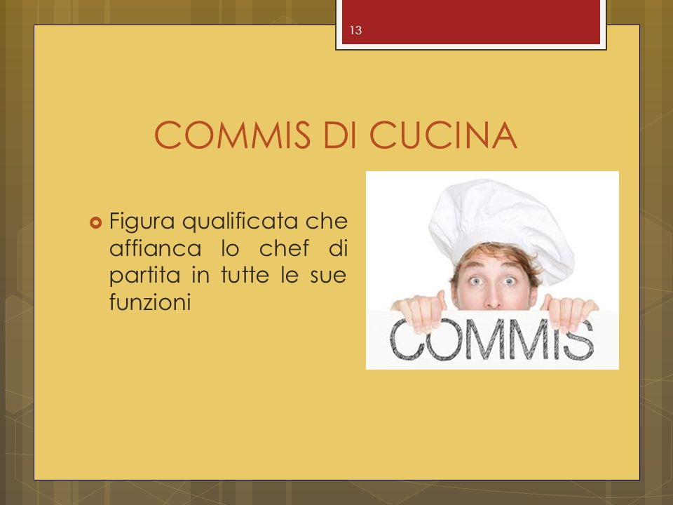 Tecnologie di cucina prof paolo forgia ppt video online for Commis di cucina stipendio