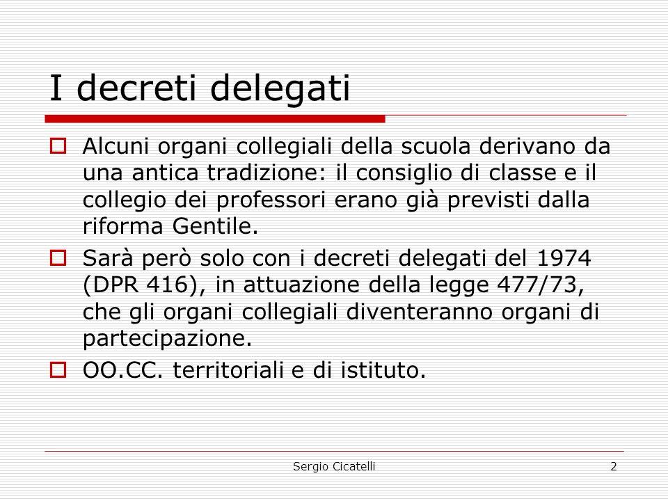 I decreti delegati