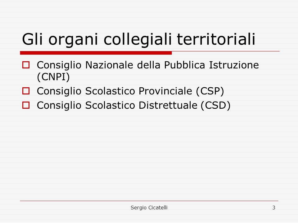 Gli organi collegiali territoriali