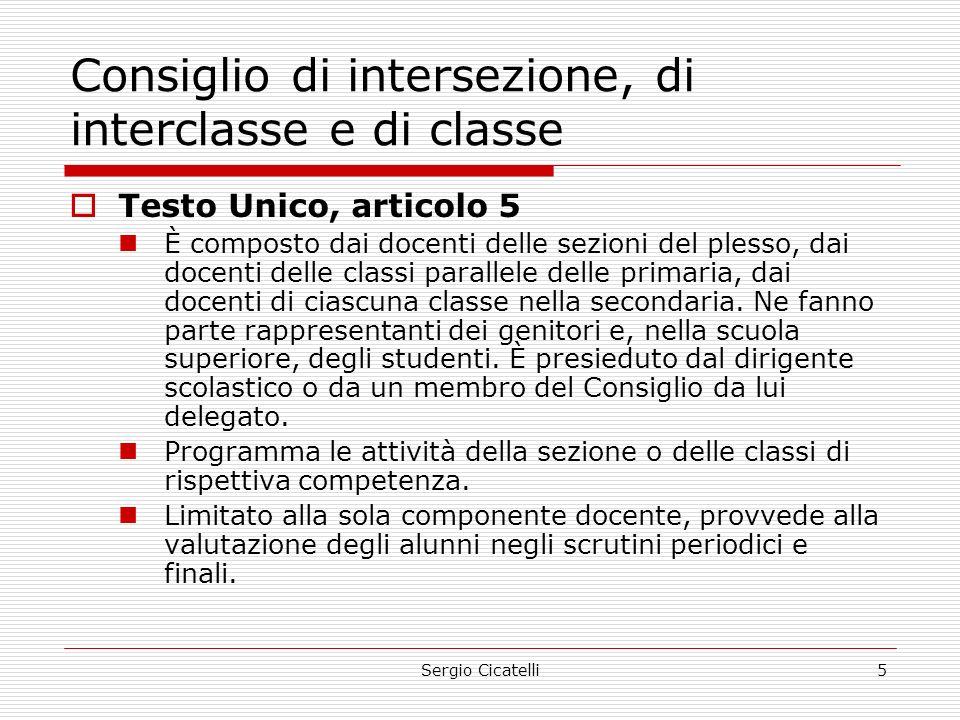 Consiglio di intersezione, di interclasse e di classe