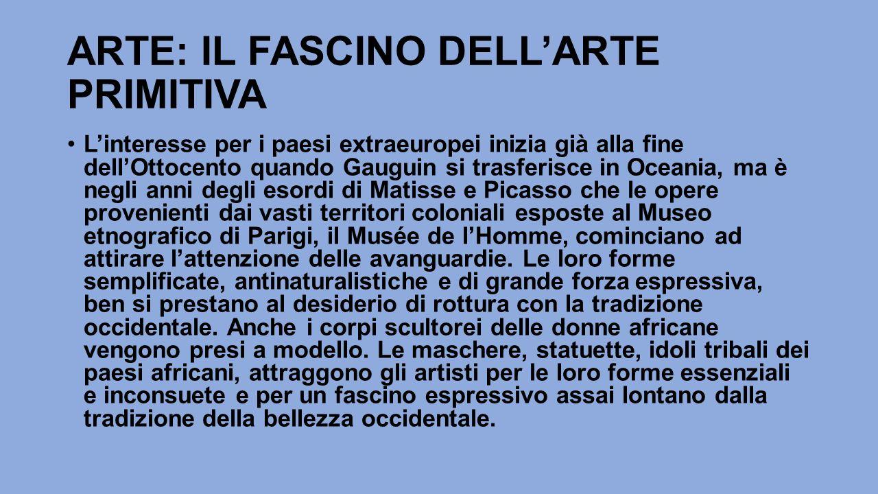 ARTE: IL FASCINO DELL'ARTE PRIMITIVA