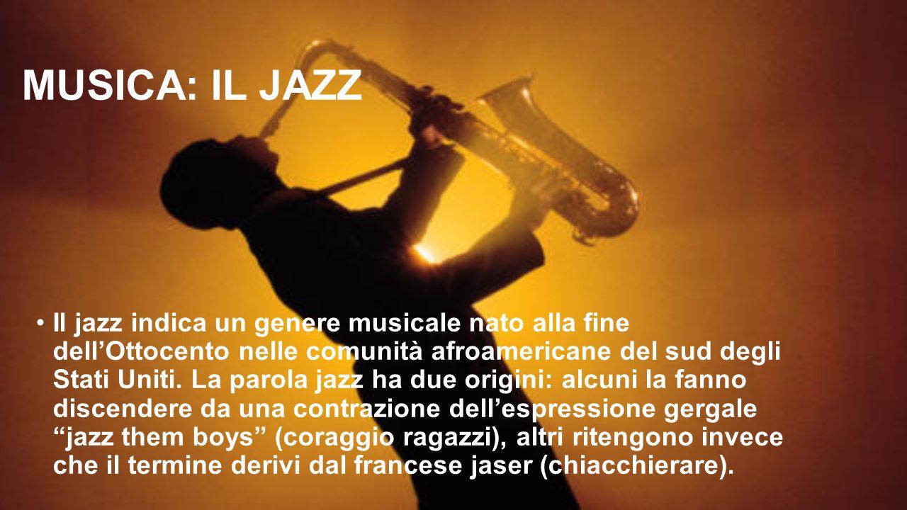 MUSICA: IL JAZZ