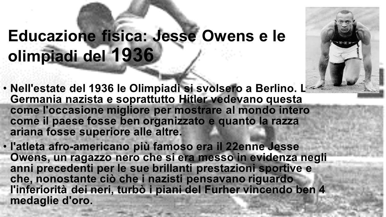 Educazione fisica: Jesse Owens e le olimpiadi del 1936
