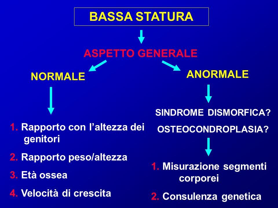 BASSA STATURA ASPETTO GENERALE ANORMALE NORMALE