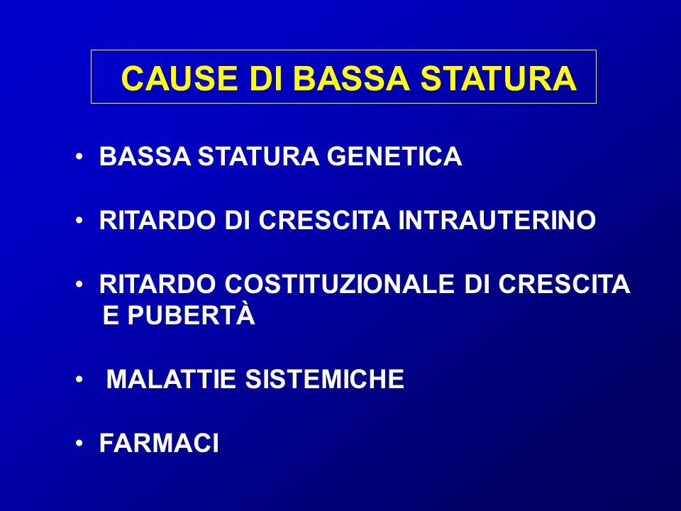 CAUSE DI BASSA STATURA BASSA STATURA GENETICA