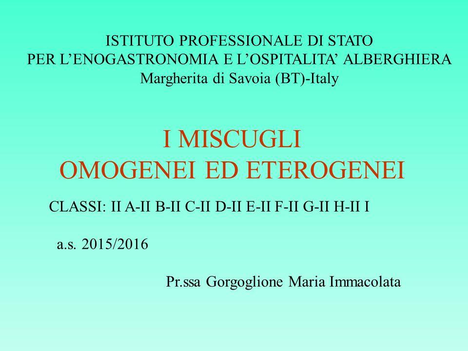 OMOGENEI ED ETEROGENEI