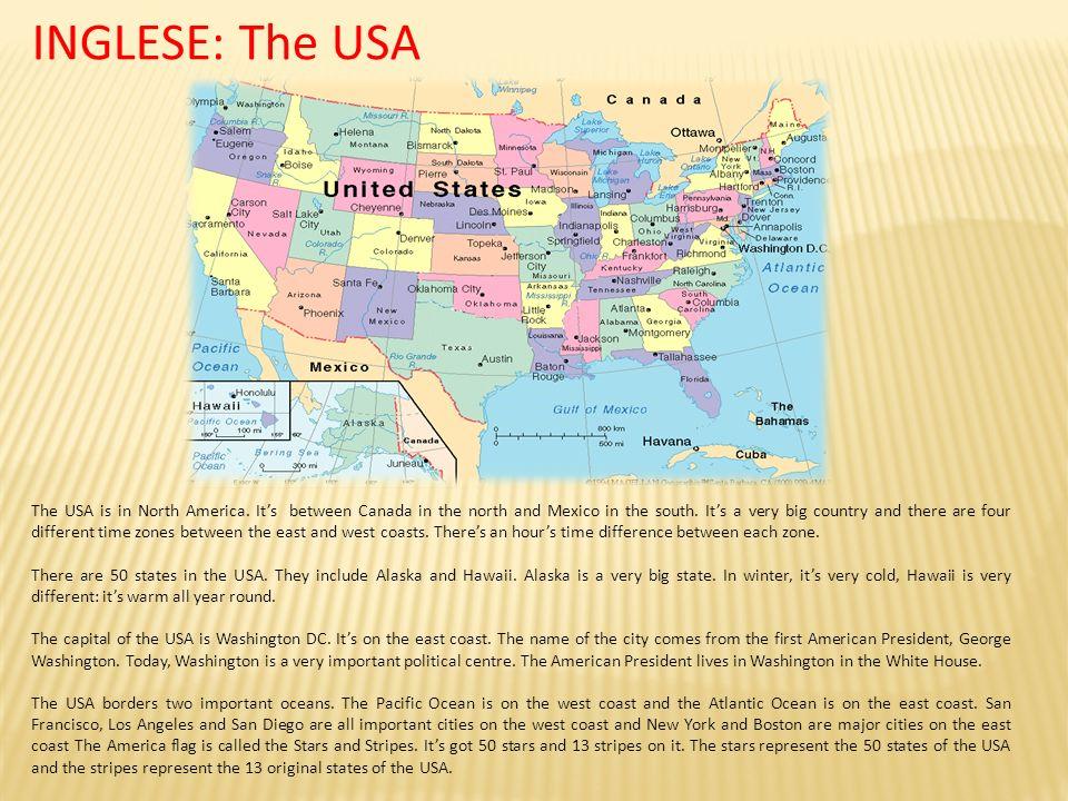 INGLESE: The USA