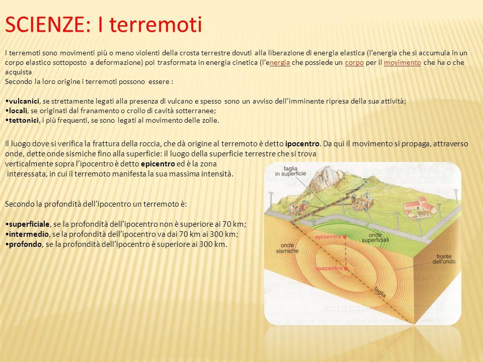 SCIENZE: I terremoti