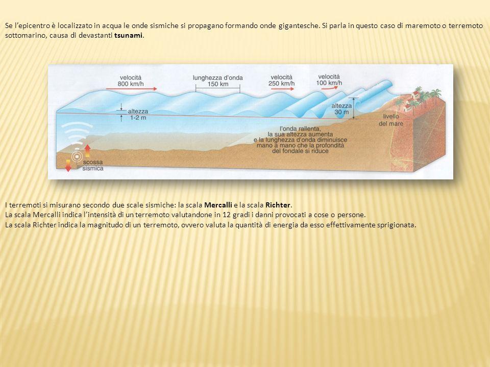 Se l'epicentro è localizzato in acqua le onde sismiche si propagano formando onde gigantesche. Si parla in questo caso di maremoto o terremoto sottomarino, causa di devastanti tsunami.
