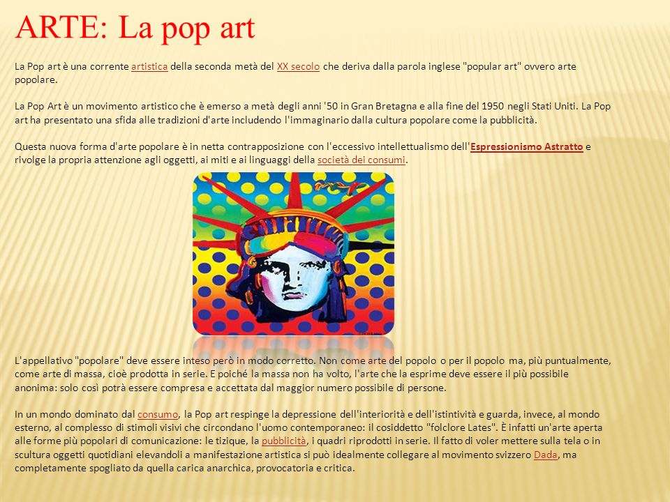 ARTE: La pop art