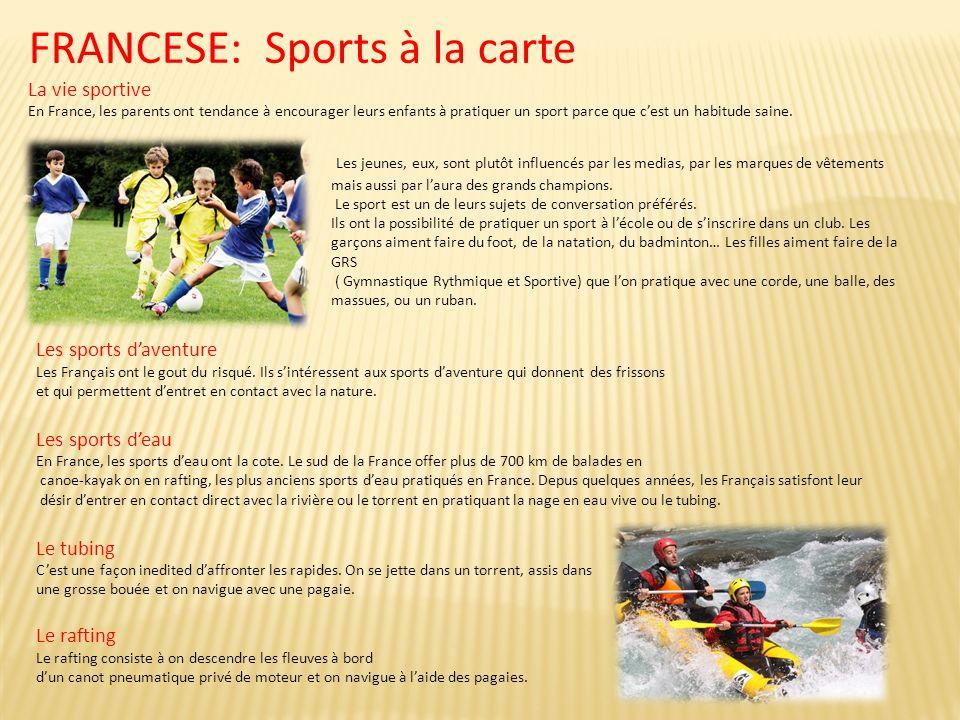 FRANCESE: Sports à la carte