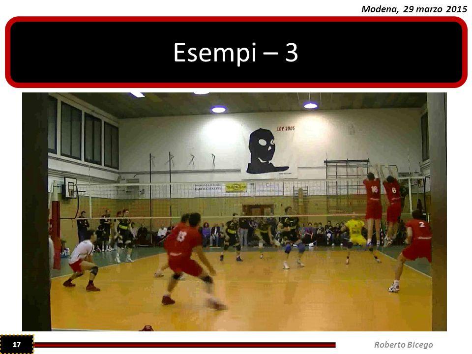 Esempi – 3 Roberto Bicego