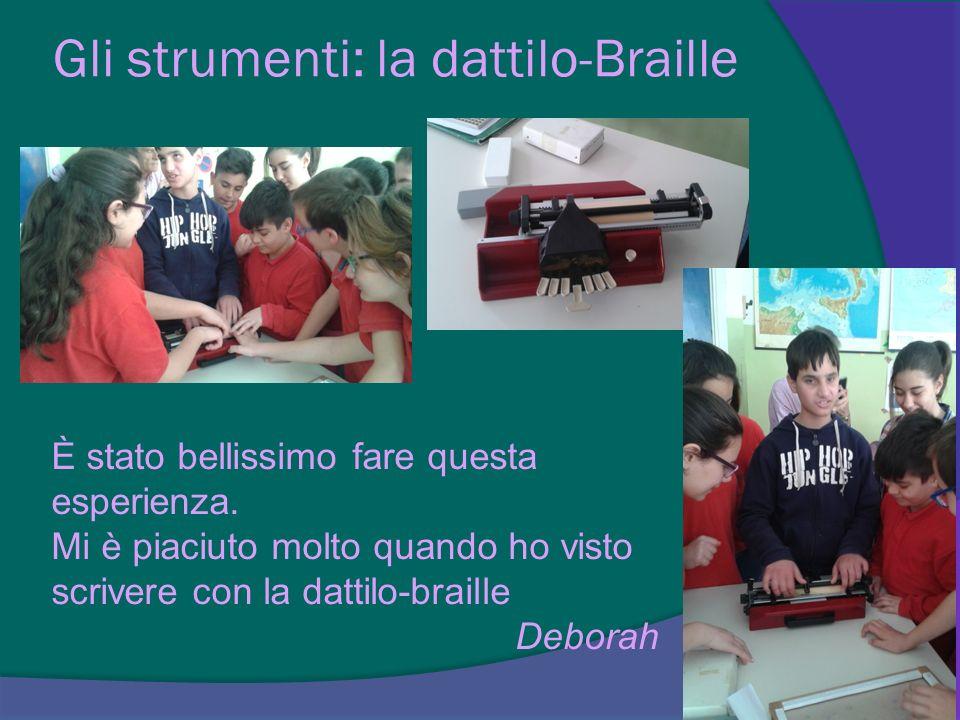 Gli strumenti: la dattilo-Braille