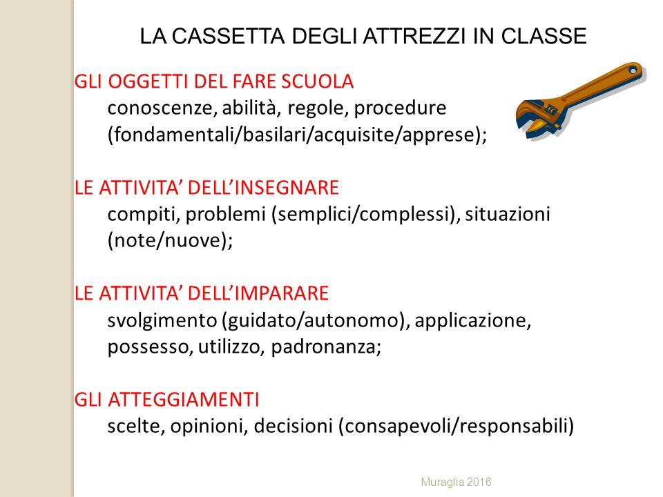 LA CASSETTA DEGLI ATTREZZI IN CLASSE