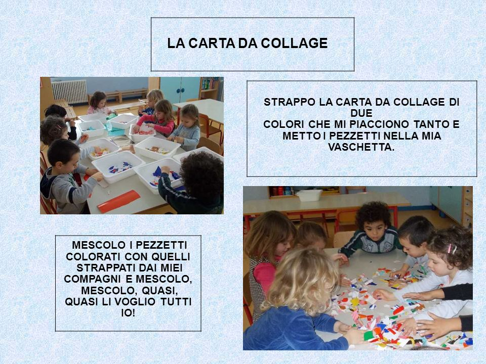 LA CARTA DA COLLAGE STRAPPO LA CARTA DA COLLAGE DI DUE