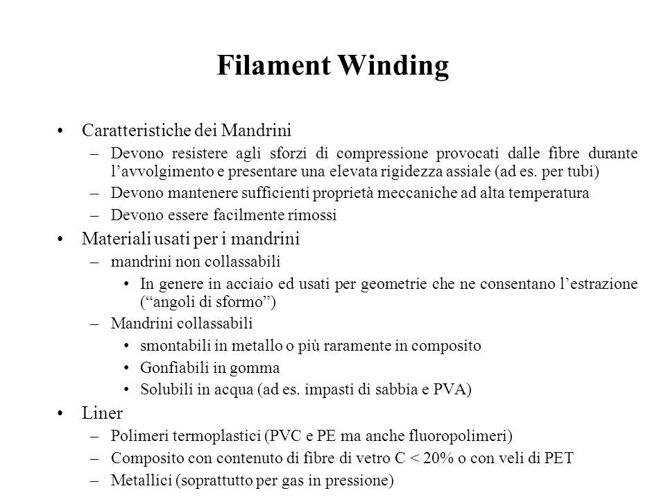 Filament Winding Caratteristiche dei Mandrini