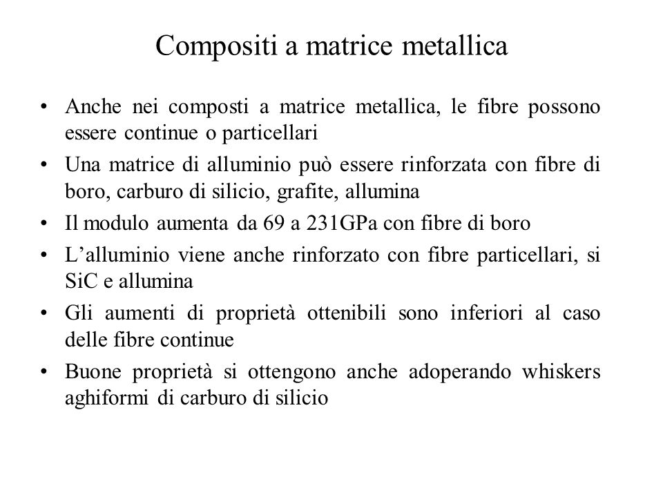 Compositi a matrice metallica