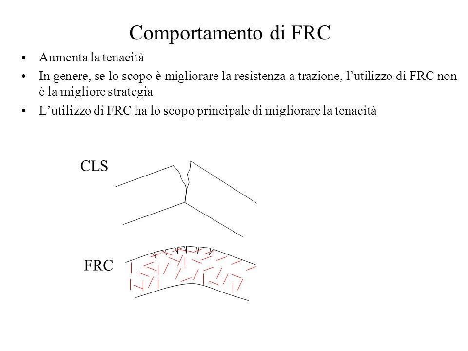 Comportamento di FRC CLS FRC Aumenta la tenacità
