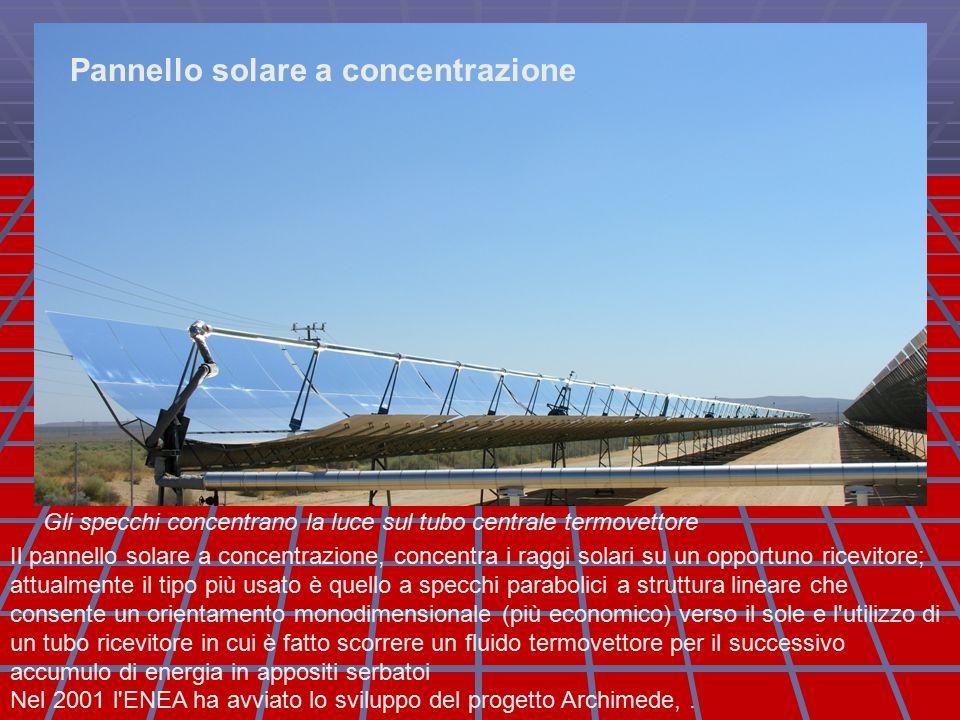 Pannello Solare A Concentrazione Definizione : Energia solare per si intende l
