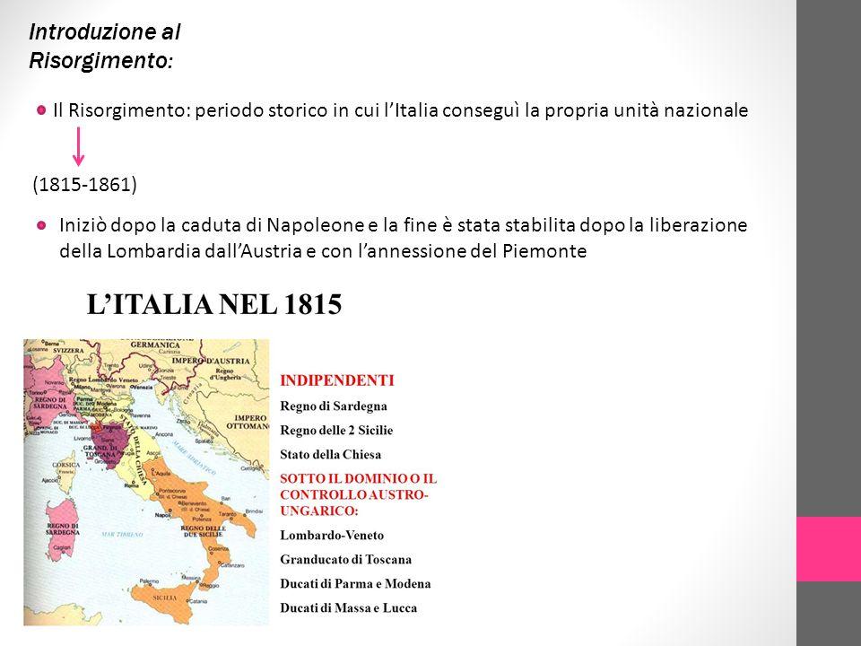 Introduzione al Risorgimento: