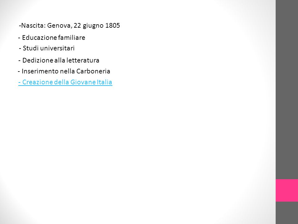 -Nascita: Genova, 22 giugno 1805