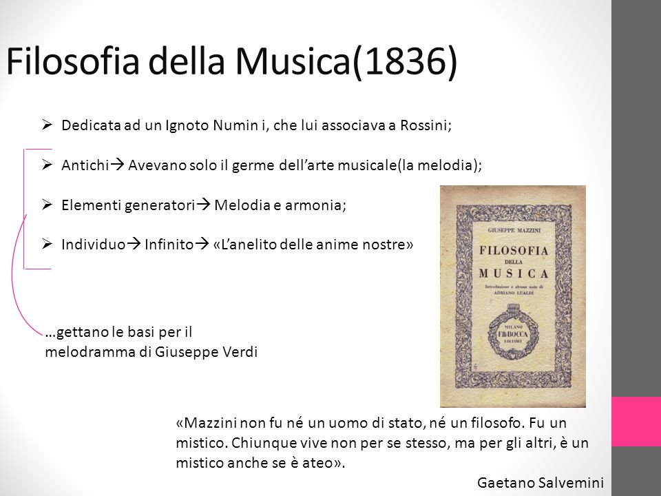 Filosofia della Musica(1836)