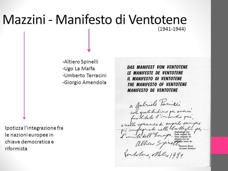 Mazzini - Manifesto di Ventotene