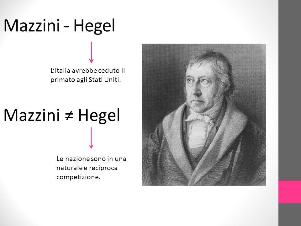 Mazzini - Hegel Mazzini ≠ Hegel