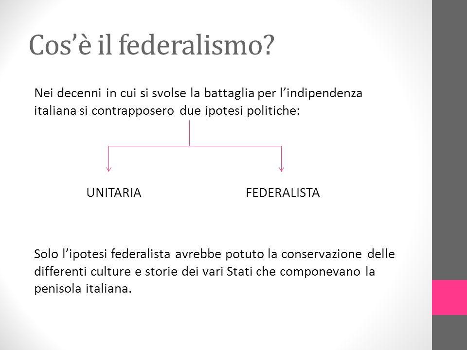 Cos'è il federalismo