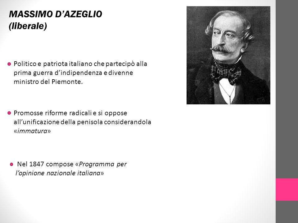 MASSIMO D'AZEGLIO (liberale)